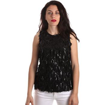 vaatteet Naiset Topit / Puserot Fracomina FR19SP533 Musta