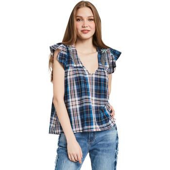 vaatteet Naiset Topit / Puserot Gaudi 011BD45007 Sininen