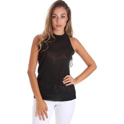 vaatteet Naiset Topit / Puserot Fracomina FR20SM812 Musta
