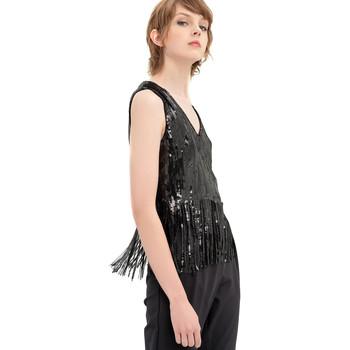 vaatteet Naiset Topit / Puserot Fracomina FR20SP503 Musta