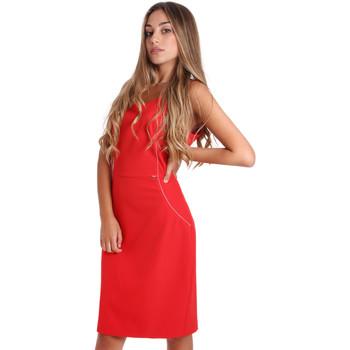 vaatteet Naiset Lyhyt mekko Fracomina FR20SP645 Punainen