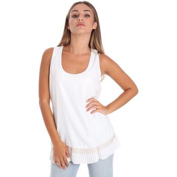 vaatteet Naiset Topit / Puserot Fracomina FR20SM014 Valkoinen