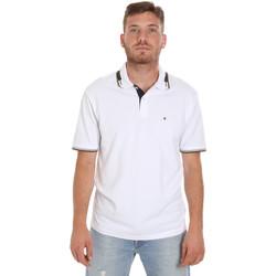vaatteet Miehet Lyhythihainen poolopaita Les Copains 9U9021 Valkoinen