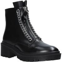 kengät Naiset Bootsit Apepazza F0COMBAT10/LEA Musta