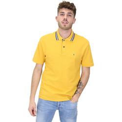 vaatteet Miehet Lyhythihainen poolopaita Les Copains 9U9022 Keltainen
