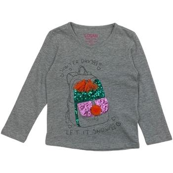 vaatteet Tytöt T-paidat pitkillä hihoilla Losan 026-1201AL Harmaa