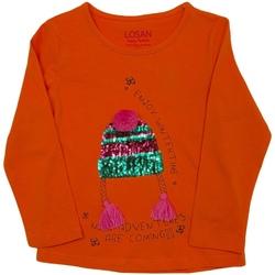 vaatteet Lapset T-paidat pitkillä hihoilla Losan 026-1201AL Oranssi