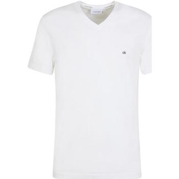 vaatteet Miehet Lyhythihainen t-paita Calvin Klein Jeans K10K103672 Valkoinen