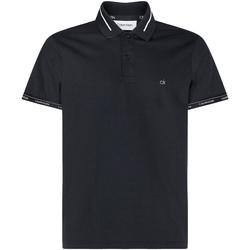 vaatteet Miehet Lyhythihainen poolopaita Calvin Klein Jeans K10K105580 Musta