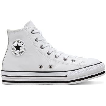 kengät Lapset Korkeavartiset tennarit Converse 666392C Valkoinen
