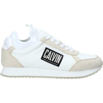 kengät Miehet Matalavartiset tennarit Calvin Klein Jeans B4S0715 Valkoinen