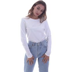 vaatteet Naiset T-paidat pitkillä hihoilla Calvin Klein Jeans K20K202386 Valkoinen