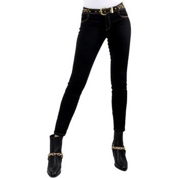 vaatteet Naiset Slim-farkut Versace A1HVB02HAPV4P899 Musta