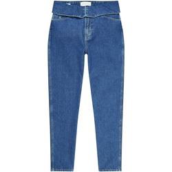 vaatteet Naiset Suorat farkut Calvin Klein Jeans J20J214013 Sininen