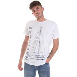 vaatteet Miehet Lyhythihainen t-paita Navigare NV31109 Valkoinen