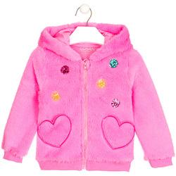 vaatteet Tytöt Neuleet / Villatakit Losan 026-0000AL Vaaleanpunainen
