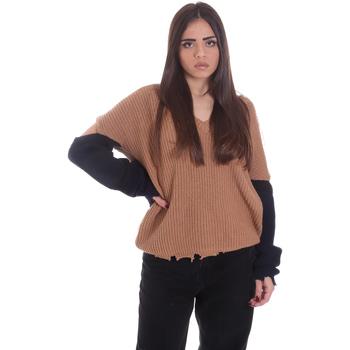 vaatteet Naiset Neulepusero P-Jean 1X109Q Y4ZX Beige