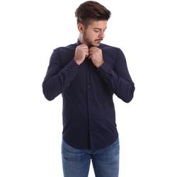 vaatteet Miehet Pitkähihainen paitapusero Automatic CAU22400 Sininen