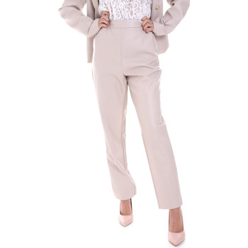 vaatteet Naiset Chino-housut / Porkkanahousut Fracomina F120W10062E00701 Beige