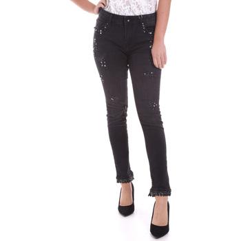 vaatteet Naiset Slim-farkut Fracomina F120W10002D00304 Musta