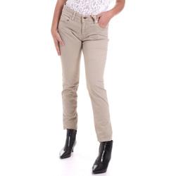 vaatteet Naiset 5-taskuiset housut Gaudi 821BD25025 Beige