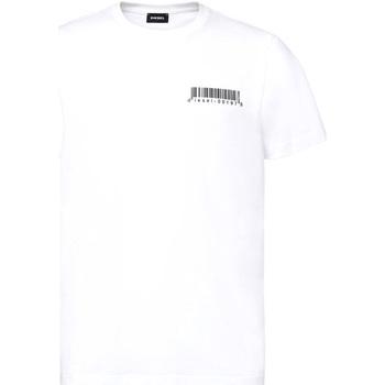 vaatteet Miehet Lyhythihainen t-paita Diesel A00582 0HAYU Valkoinen