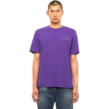 vaatteet Miehet Lyhythihainen t-paita Diesel A01031 0PATI Violetti