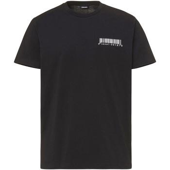 vaatteet Miehet Lyhythihainen t-paita Diesel A00582 0HAYU Musta