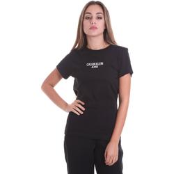 vaatteet Naiset Lyhythihainen t-paita Calvin Klein Jeans J20J214232 Musta
