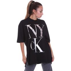 vaatteet Naiset Lyhythihainen t-paita Calvin Klein Jeans J20J214436 Musta