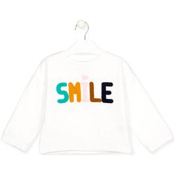 vaatteet Lapset T-paidat pitkillä hihoilla Losan 026-6029AL Valkoinen