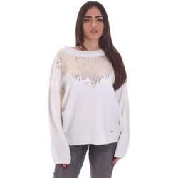 vaatteet Naiset Neulepusero Gaudi 021BD53044 Valkoinen