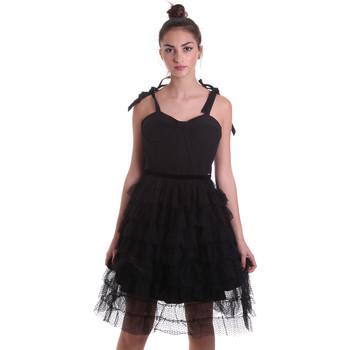 vaatteet Naiset Lyhyt mekko Fracomina F120W14019W01201 Musta