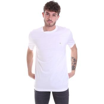 vaatteet Miehet Lyhythihainen t-paita Calvin Klein Jeans K10K106360 Valkoinen