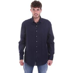 vaatteet Miehet Pitkähihainen paitapusero Calvin Klein Jeans K10K106040 Sininen