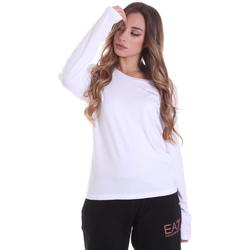 vaatteet Naiset T-paidat pitkillä hihoilla Ea7 Emporio Armani 6HTT04 TJ28Z Valkoinen