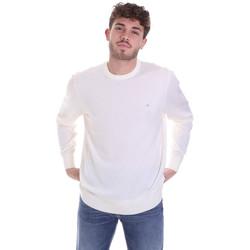 vaatteet Miehet Neulepusero Calvin Klein Jeans K10K102727 Valkoinen