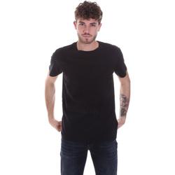 vaatteet Miehet Lyhythihainen t-paita Calvin Klein Jeans J30J315860 Musta