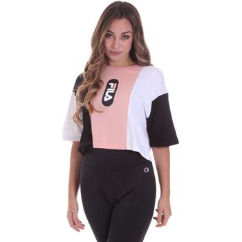 vaatteet Naiset Lyhythihainen t-paita Fila 687943 Vaaleanpunainen