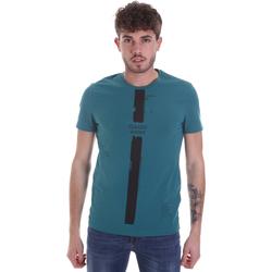 vaatteet Miehet Lyhythihainen t-paita Gaudi 021GU64035 Vihreä