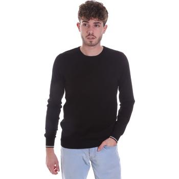 vaatteet Miehet Neulepusero Gaudi 021GU53001 Musta