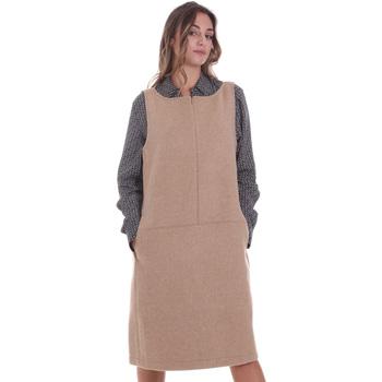 vaatteet Naiset Lyhyt mekko Calvin Klein Jeans K20K202451 Beige