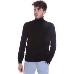 vaatteet Miehet Neulepusero Gaudi 021GU53003 Musta