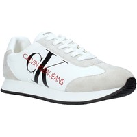 kengät Miehet Matalavartiset tennarit Calvin Klein Jeans B4S0716 Valkoinen