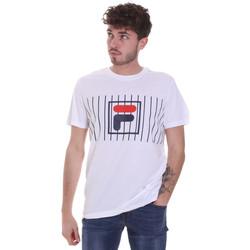 vaatteet Miehet Lyhythihainen t-paita Fila 687989 Valkoinen