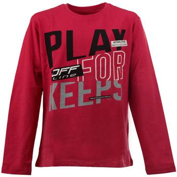 vaatteet Lapset T-paidat pitkillä hihoilla Losan 023-1627AL Punainen