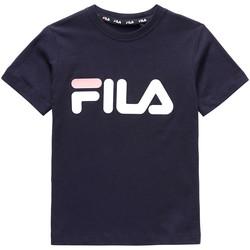 vaatteet Lapset Lyhythihainen t-paita Fila 688021 Sininen