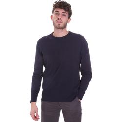 vaatteet Miehet T-paidat pitkillä hihoilla Sseinse MI1691SS Sininen