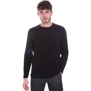 vaatteet Miehet T-paidat pitkillä hihoilla Sseinse MI1691SS Musta