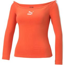 vaatteet Naiset T-paidat pitkillä hihoilla Puma 530376 Oranssi